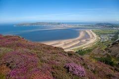Vues de montagne de Conwy Photographie stock libre de droits
