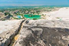 Vues de montagne de la Turquie Pamukkale Photographie stock libre de droits