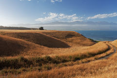 Vues de passage couvert de péninsule de Kaikoura, Nouvelle-Zélande Image libre de droits