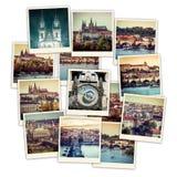 Vues de Prague de collage Photographie stock