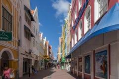 Vues de Punda autour d'île des Caraïbes du Curaçao Image libre de droits