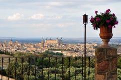Vues de Toledo et de son Alcazar, Espagne photos libres de droits