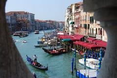 Vues de Venise Canal de mamie Passerelle de Rialto image stock