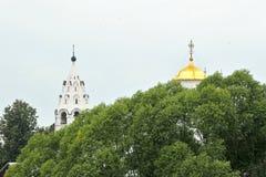 Vues de vieilles maisons et églises Images libres de droits