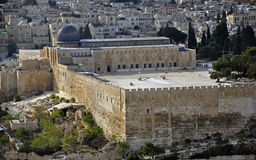 Vues de ville de Jérusalem Images libres de droits