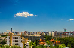Vues de ville de Pékin en été Photos stock