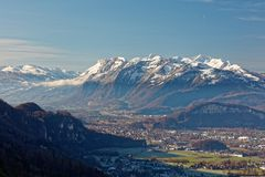 Vues des Alpes d'Appenzell en Suisse image libre de droits