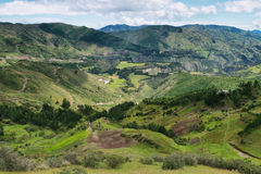 Vues des champs et des montagnes de terrasse Images stock