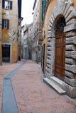 Vues des rues de la belle ville de Pérouse Photographie stock libre de droits
