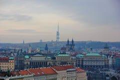 vues des vues principales de Prague Images libres de droits