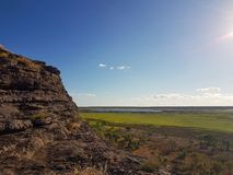 Vues des zones inondables d'Australien d'intérieur Photos stock