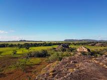 Vues des zones inondables d'Australien d'intérieur Image stock