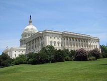 Vues du bâtiment de capitol situé dans notre capitale du ` s de nation, Washington, D C image stock