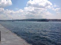 Vues du Bosphorus du palais de Dolmabahce, Istanbul, Turquie Photos libres de droits