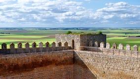 Vues du château de Montealegre de Campos, Valladolid, Espagne photos stock