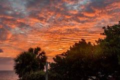 Vues du Curaçao de coucher du soleil photographie stock