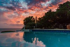 Vues du Curaçao de coucher du soleil photo libre de droits