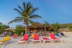 Vues du Curaçao de plage de PortoMarir images stock