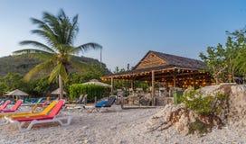 Vues du Curaçao de plage de PortoMarir photographie stock libre de droits