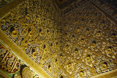 Vues du palais d'Alcazar à Séville Image libre de droits