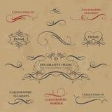 Vues et cadres calligraphiques Photographie stock libre de droits