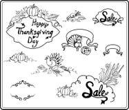 Vues et composition sur la ligne de thanksgiving Photo stock