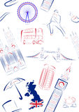 Vues et symboles de la Grande-Bretagne - sans joint Image libre de droits