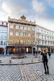 Vues extérieures des bâtiments à Prague images libres de droits