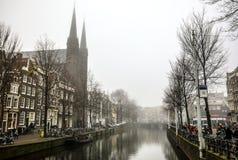 Vues générales de paysage dans l'église néerlandaise traditionnelle Images stock
