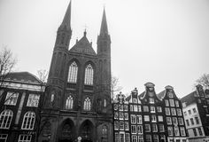 Vues générales de paysage dans l'église néerlandaise traditionnelle Photo libre de droits