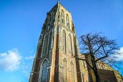 Vues générales de paysage dans l'église néerlandaise traditionnelle Images libres de droits