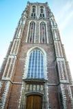 Vues générales de paysage dans l'église néerlandaise traditionnelle Photo stock