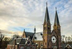 Vues générales de paysage dans l'église néerlandaise traditionnelle Image stock