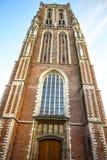 Vues générales de paysage dans l'église néerlandaise traditionnelle Image libre de droits