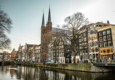 Vues générales de paysage dans l'église néerlandaise traditionnelle Photographie stock libre de droits