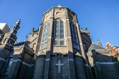 Vues générales de paysage dans l'église néerlandaise traditionnelle Laps de temps Photo stock