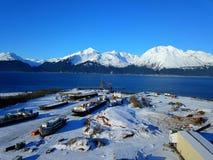 Vues maritimes de l'Alaska photographie stock