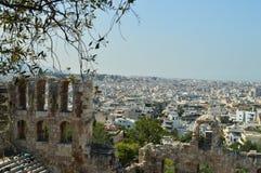Vues merveilleuses de la ville d'Athènes de l'Acropole Architecture, histoire, voyage, paysages photo libre de droits