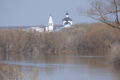 Vues panoramiques au-dessus de flaque de rivière Photos libres de droits