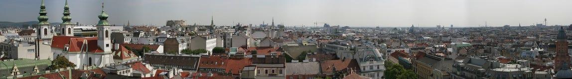 Vues panoramiques au-dessus de Vienne Image libre de droits