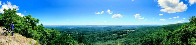 Vues panoramiques de bel été de traînée appalachienne photos stock