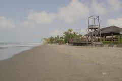 Vues panoramiques de la plage Photos stock