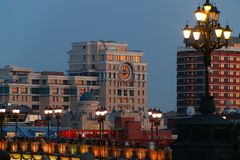 Vues panoramiques de la ville de Moscou Image libre de droits