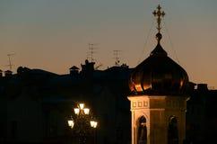 Vues panoramiques de la ville de Moscou Images libres de droits