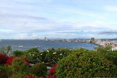 Vues panoramiques de la ville Pattaya Image libre de droits