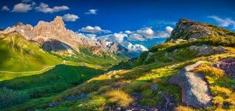 Vues panoramiques de Pale di San Martino Photos libres de droits
