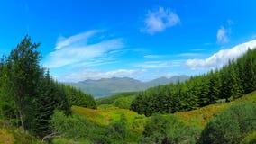 Vues panoramiques des montagnes écossaises Images stock
