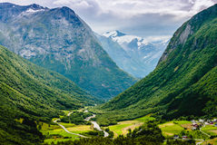 Vues renversantes de la vallée norway Photos stock