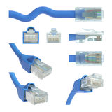 Vues RJ45 et angles Photos stock