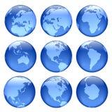Vues rougeoyantes de globe Photographie stock libre de droits